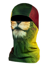 Phunkshun Convertible Ballerclava Stripes Layer Face Mask Rasta Lion