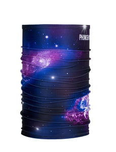 Phunkshen Wear Single Tube Fun Designs Face Mask Galactus Purple Blue Black
