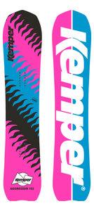Kemper Aggressor 1989/1990 Powder Snowboard Pink/BlackBlue Top and Bottom Sheets