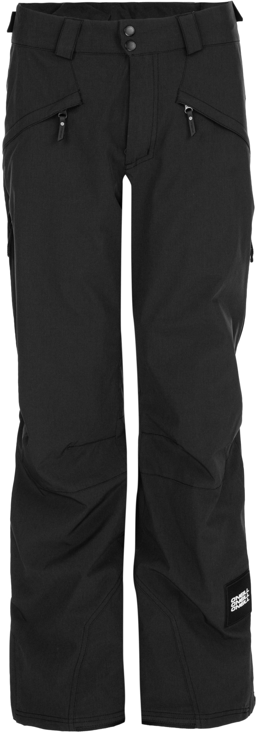 Oneill mens quartzite 10 k waterproof breathable winter snow ski snowboard pant black out front