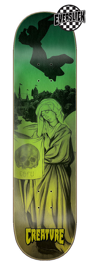 Creature Rebirth LG Everslick 8.375in x 32.15in Skateboard Deck Bottom View