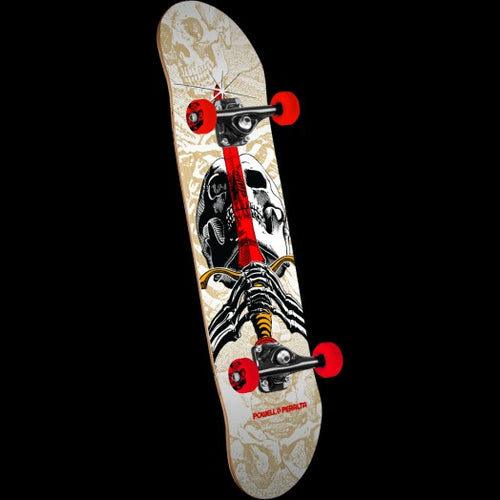 Skull And Sword One Off Complete Skateboard 7.5x31