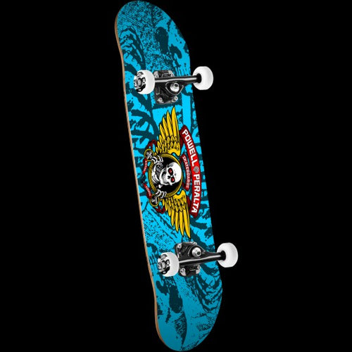 Winged Ripper Complete Skateboard Blue 7x28