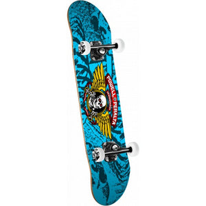 Winged Ripper Complete Skateboard Blue - 7 x 28