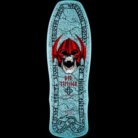 Welinder Nordic Skull Skateboard Deck Light Blue 9.625x29.75