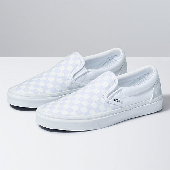 Vans Classic Slip-On (Checkerboard) True White/True White