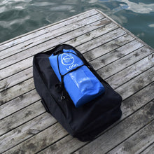 Combined packed shot SUP and dry bag