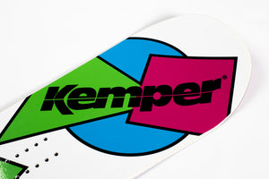 Kemper Snowboards Freestyle 1989/90 All Mountain Snowboard White Tip Nose Detail Close Up