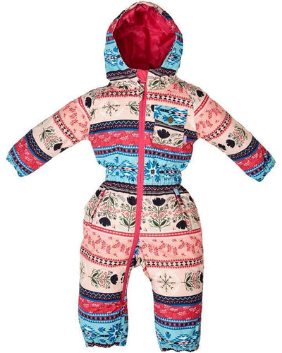 Rojo Outer Wear infant baby girl toddler snow onesie folklore print