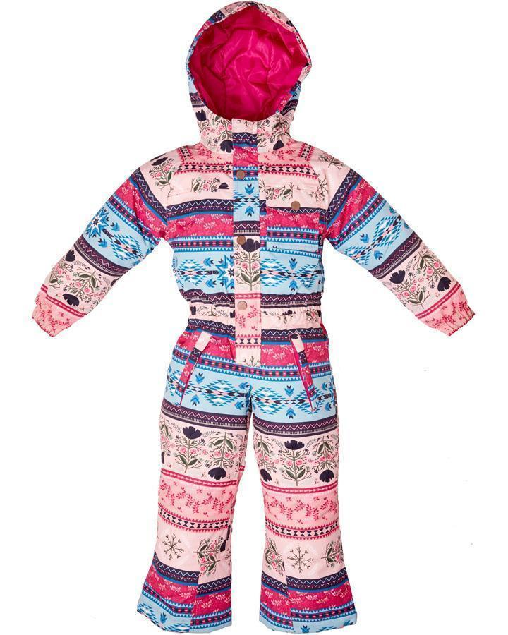 rojo outer wear girls onesie snow suit folklore print 4-8 years