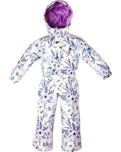 rojo outer wear girls onesie snow suit ice floral print 4-8 years
