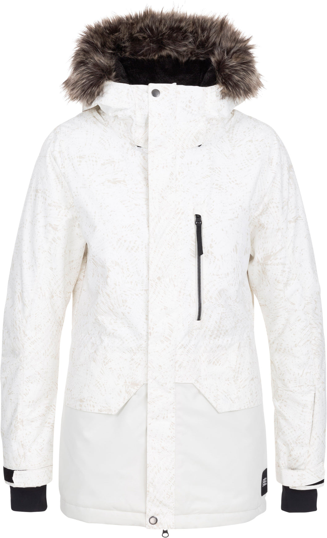 O'Neill Ladies Ski and Snowboard Zeolite Jacket White Front
