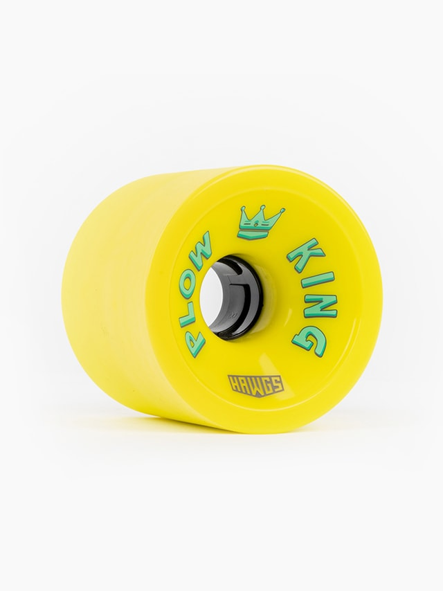 Hawgs Plow Kings 72mm 78a longboard wheel flat banana yellow