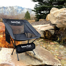 BearFist Outdoor super lightweight backpacking camping chair portable black nature