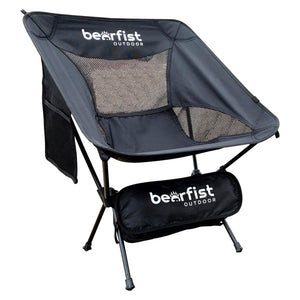 Bear Fist Outdoors lightweight backpacking camp chair black main