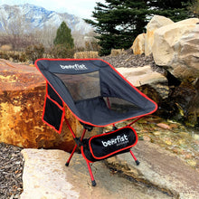 Bearfist Outdoor Ultralight Miniature Camp Chair 2 lbs carry weight 300 pounds weight capacity
