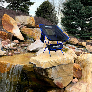 packable camp chair blue take anywhere only 2 pounds