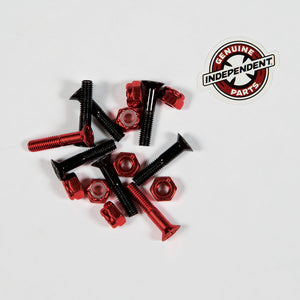 Indy Genuine Parts 1inch Red Black Phillips Skateboard Hardware