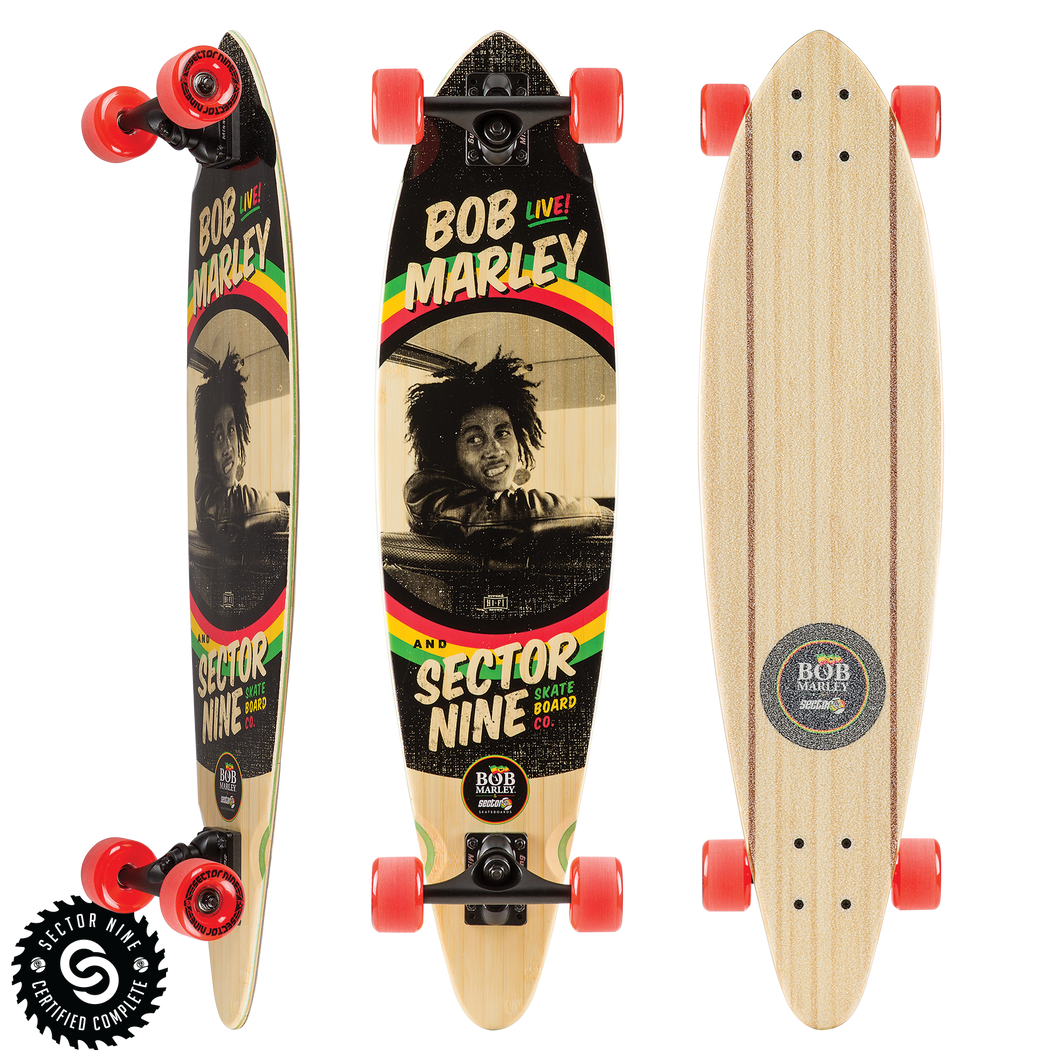 Bob Marley Kingston Longboard Complete
