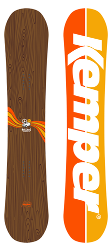 Kemper Snowboards Freestyle Martin Gallant 2020/2021 All Mountain Snowboard Top and Bottom Sheet