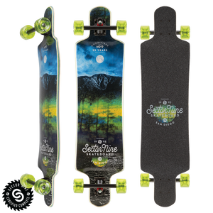 Midnight Faultline Complete Long Board