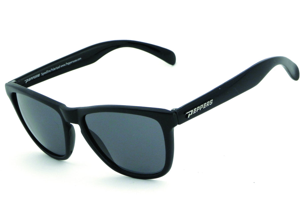 Matte Black to Matte Crystal Blue Fade Brown Polarized w. Diamond Blue Mirror