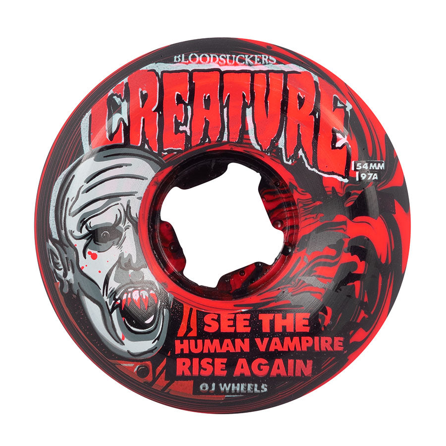 Bloodsuckers 97a Red/Black Swirl Skateboard Wheels