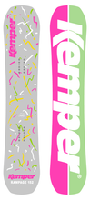 Kemper Snowboards Rampage 1988/1989 Park Freestyle Snowboard Grey/Pink/Green Top and Bottom Sheets