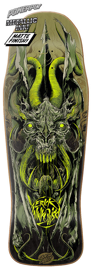 Santa Cruz Winkowski Primeval Powerply 10.34in x 30.54in Skateboard Deck Bottom View