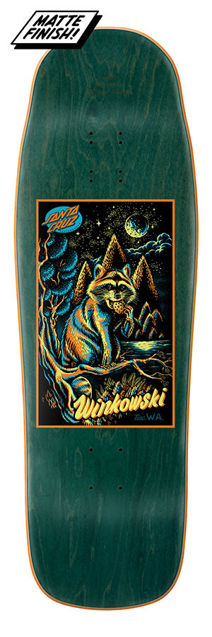 Santa Cruz Winkowski Trash Panda Card Preissue 10in x 31.6in Skateboard Deck Bottom View