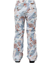 Rojo Outer Wear Womans snow pant 20 k waterproof ski snowboard pant glacier gray floral camouflage back