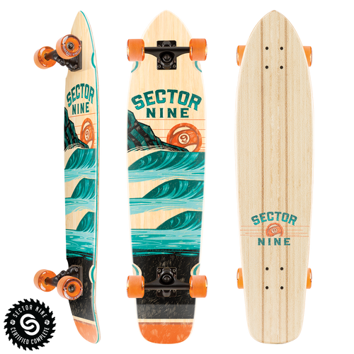 Stacked Strand Bamboo Cruiser Longboard Complete