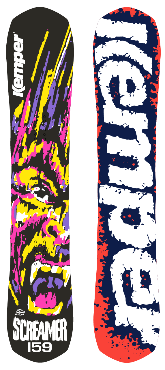 Kemper Snowboards Screamer 1990/1991 Backcountry Snowboard Top and Bottom Sheet