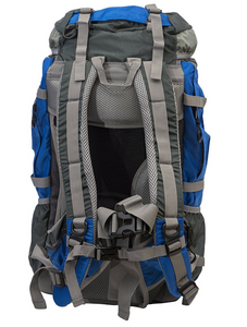 Zion 40L Internal Frame Hiking Daypack Blue