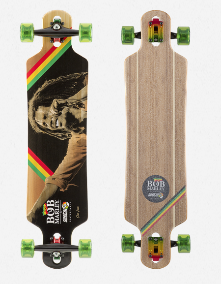 Bob Marley One Love Drop-Through Longboard Complete