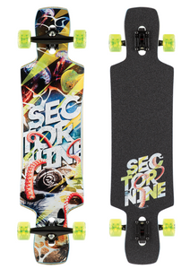 Static 39.5-Inch Drop Through Longboard Complete