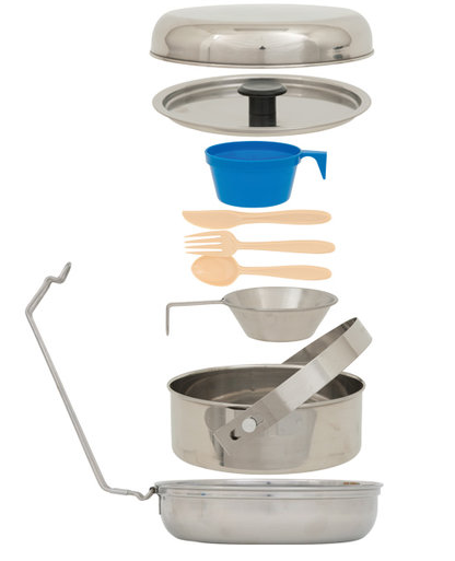 Deluxe Stainless Steel Mess Kit