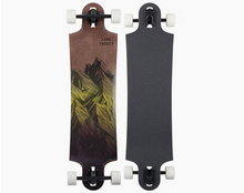 Switchblade 38 Mountain Yellow Fade Drop-Through Freeride Longboard Complete