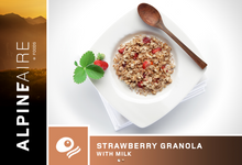 Strawberry Granola with Milk