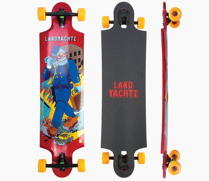 Ten Two Four Robot Drop-Through Freeride Longboard Complete