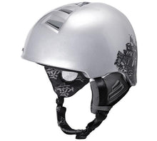 Kali Protectives Sima Epic Ski and Snowboard Helmet silver/black front angle
