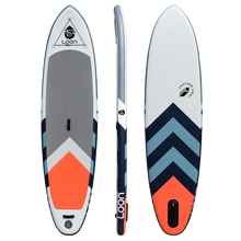 Loon Paddle Company 10 feet 8 inch Standard Featherlight Inflatable SUP White Orange Blue