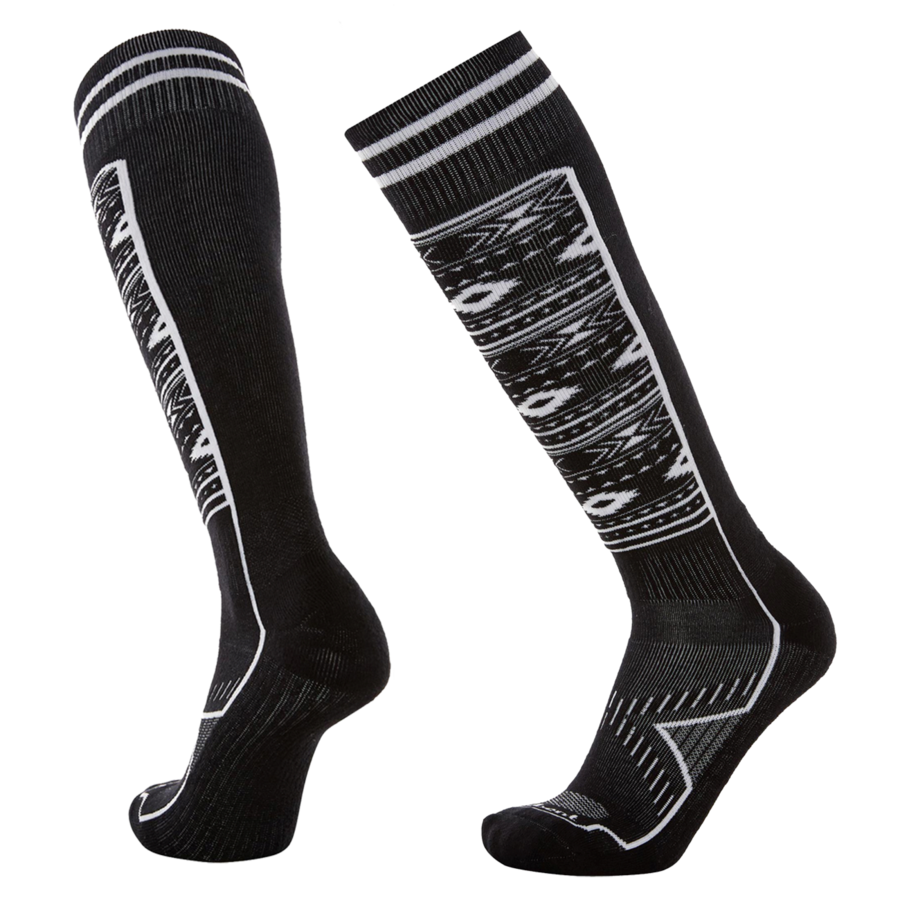 Le Bent Le Snow Lightweight Ski and Snowboard Socks Black/White