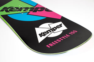 Kemper Freestyle 1989/1990 All Mountain Snowboard Black Tail Close Up Detail