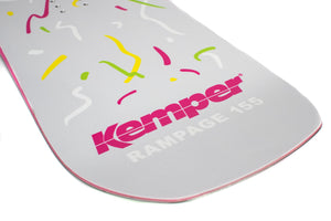 Kemper Snowboards Rampage 1988/1989 Park Freestyle Snowboard Blunt Nose Detail Close Up