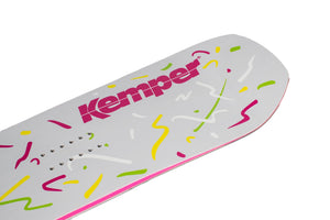 Kemper Snowboards Rampage 1988/1989 Park Freestyle Snowboard Blunt Tip Nose Close Up Detail