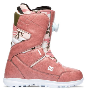 DC Shoes Women's Search Boa Coiler Snowboard Boot Rose Outside View