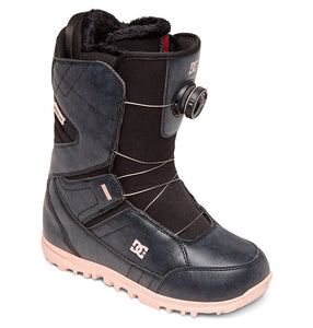 DC Shoes Women's Search Boa Coiler Snowboard Boot Black Profile View