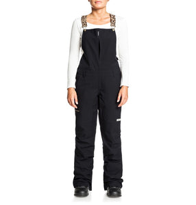 DC Shoes Women's Collective Bib Shell Ski Snowboard Pant Black Leopard Fade Front