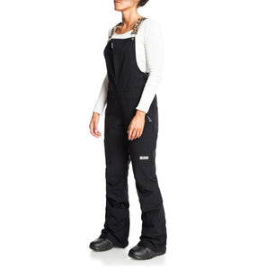 DC Shoes Women's Collective Bib Shell Ski Snowboard Pant Black Leopard Fade Front Angle
